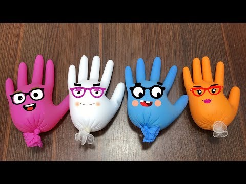 (Ver Filmes) Making slime with funny gloves cute doodles | satisfying slime videos | huong slime