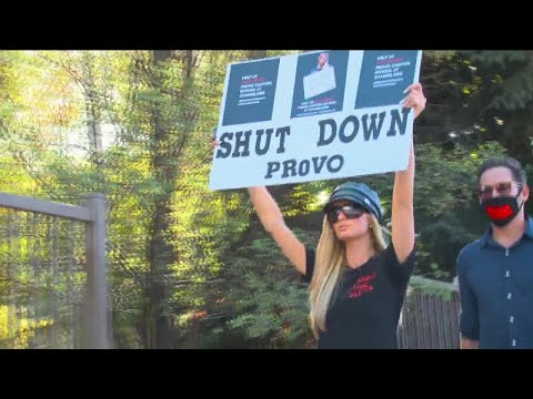 (New) Paris hilton holds rally in protest of alleged abuse at provo canyon school