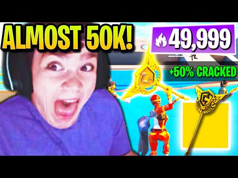 (VFHD Online) Mongraal loves *flexing* rarest pickaxe on players at 50,000 arena points!