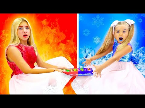 (Ver Filmes) Maggie and diana kids show cold vs hot new kids videos!!