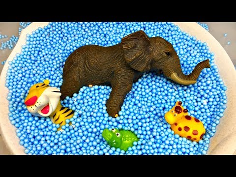 (Ver Filmes) Learn colors with animals and farm surprise toy for kid child with foam beads