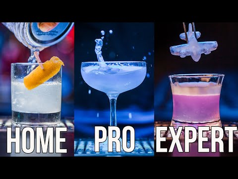 (HD) How to make aviation cocktail home | pro | expert