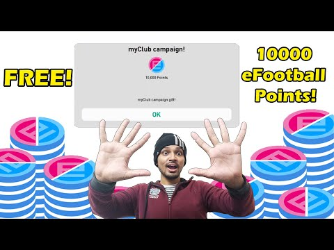 (New) How to get 10000 efootball points | trick to get free 10000 efootball points | pes mobile | pes lite