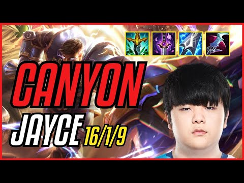 (New) Canyon - jayce - euw master - patch 11.9
