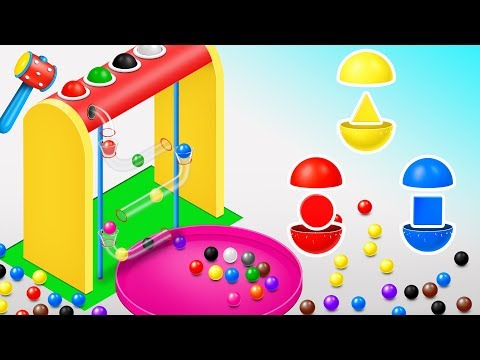 (Ver Filmes) Learn shapes with wooden hammer toys - shapes videos collection for children