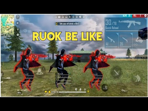(New) Desi ruok be like (part-2) 😂 free fire funny noob gameplay moment 😂🔥 #ruok ff