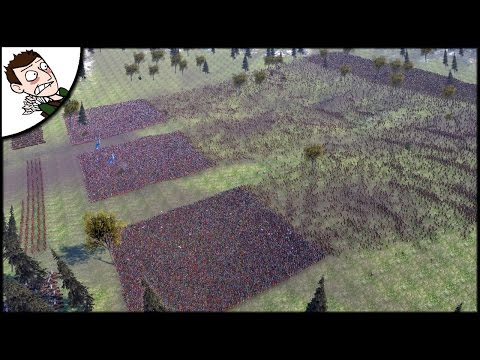 (New) Massive 40000 roman v barbarian survival battle - ultimate epic battle simulator gameplay
