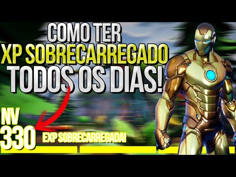 (HD) Como ter xp sobrecarregado na temporada 4 do fortnite - como pegar xp infinito - xp fortnite