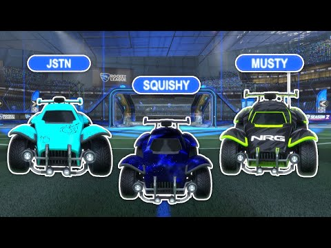 (HD) We hit this insane play while going for rank #1... | supersonic legend 3v3 with musty e jstn