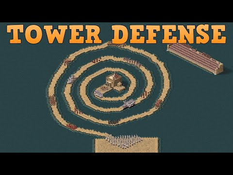 (New) Tower defense in stronghold crusader hd | can 100 swordsmen get to the king?
