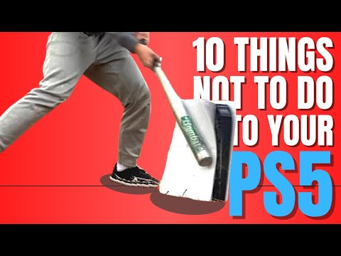 (New) 10 things you should not do to your ps5!