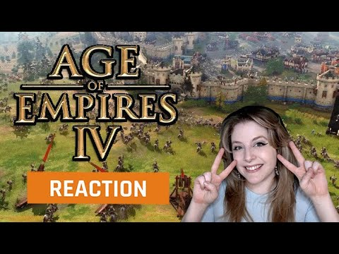 (New) My reaction to the age of empires 4 official gameplay trailer | gamedame reacts