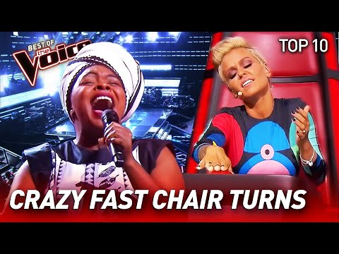 (New) Top 10 | insanely quick chair turns in the voice
