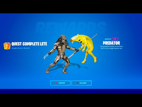 (New) How to get predator skin in fortnite!