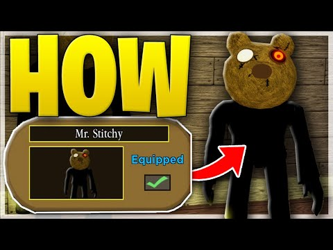 (HD) Piggy halloween event how to unlock secret mr.stitchy skin! + trap (roblox piggy)