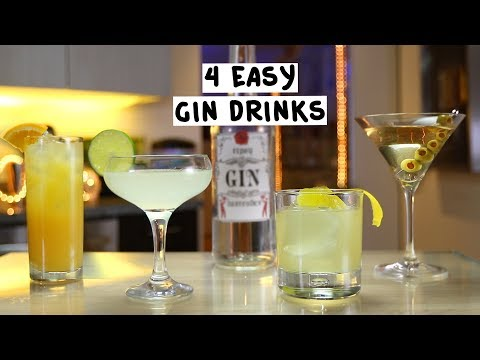 (HD) Four easy gin drinks