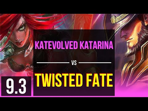 (New) Katevolved katarina vs twisted fate (mid) | na grandmaster | v9.3