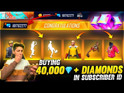New Buying 10000 Diamonds And Dj Alok In Subscriber Account Got New Bundle And Emotes Garena Free Fire
