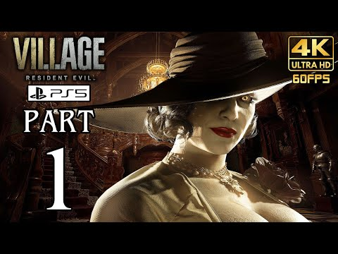 (New) Resident evil 8 village (ps5) walkthrough part 1 gameplay no commentary @ 4k 60ᶠᵖˢ ✔