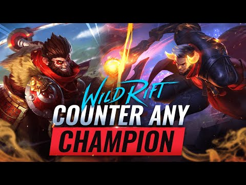 (New) How to counter any champion in wild rift (lol mobile)
