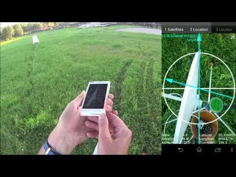 (New) Satellite locator with gps locations from the phone