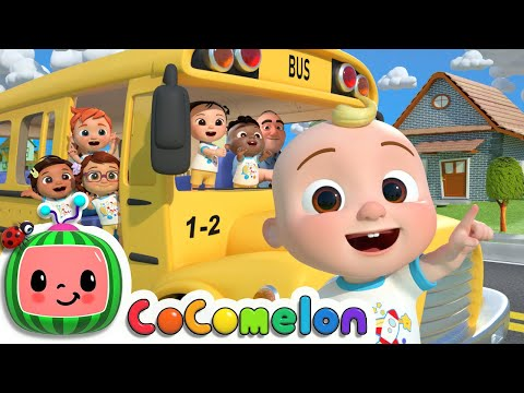 (New) Wheels on the bus (school version) | cocomelon nursery rhymes e kids songs