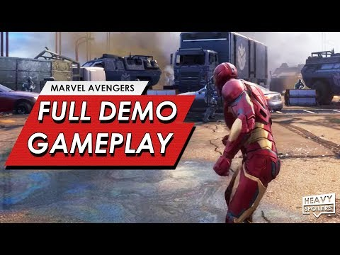 (New) Marvels avengers: a-day prologue gameplay full demo walkthrough footage | story, villain e reaction
