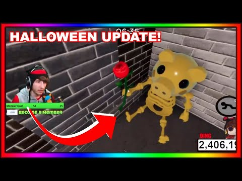(New) Kreekcraft reacts to the piggy halloween update event! (skins, secrets and more)
