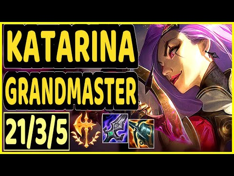 (New) Katevolved (katarina) - 21 3 5 kda gameplay - na ranked grandmaster