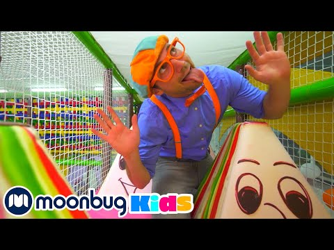 (Ver Filmes) Blippi visits the play place indoor playground! | learning with blippi | educational videos for kids