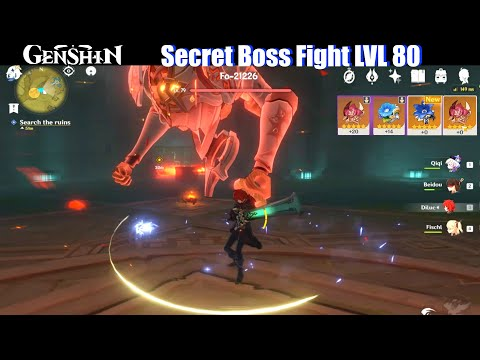 (New) Genshin impact - secret boss lvl 80 (5 star artifact rewards)