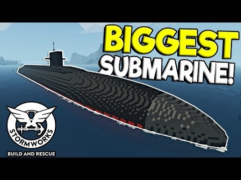 (New) Massive submarine e destroyer rescue! - stormworks: build and rescue update gameplay