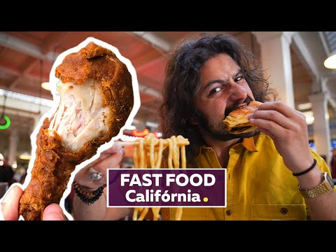 (New) Mcdonald`s mais antigo do mundo, frango frito e mais fast food | viagem califórnia | mohamad hindi