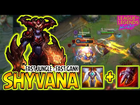 (New) Shyvana wild rift broken jungle | shyvana wild rift guide | shyvana perfect game play | rank game |