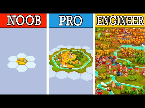 (New) Engineering the greatest city in new building strategy puzzle game dorfromantik!