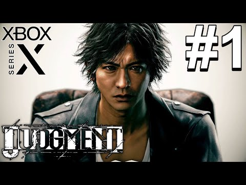 (New) Judgment remastered (xbox series x) gameplay walkthrough part 1 - ch. 1: three blind mice [4k 60fps]