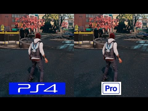 (New) Infamous: second son ps4 pro graphics comparison [4k] - ps4 vs ps4 pro