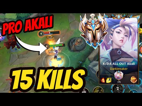 (New) Challenger akali gameplay - how to play akali like a pro in wild rift