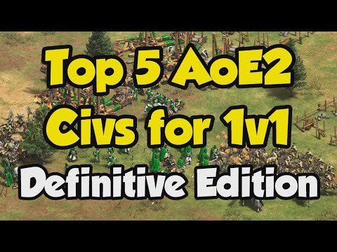 (New) Best 1v1 civilizations (aoe2 definitive edition stats)