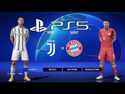 (New) Fifa 21 ps5 juventus - bayern münchen | mod ultimate difficulty career mode hdr next gen