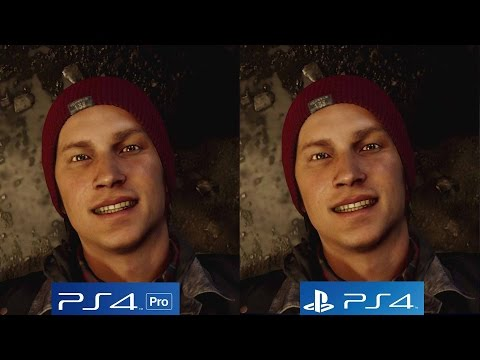 (New) [4k   60fps] segundo filho infamous: ps4 vs ps4 pro 4k vs ps4 pro 1080p