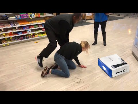 (New) She tried to steal a ps5..