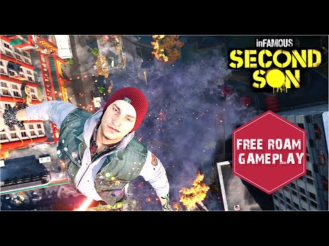 (New) Infamous second son free roam gameplay 2020 (sucker punch first ps4 game)