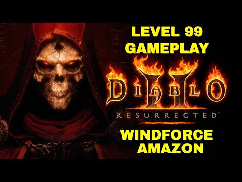 (New) Diablo 2 resurrected - level 99 windforce amazon - andarial hell difficulty - 3440x1440