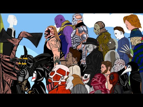 (New) Battle of jason,michael,freddy,leatherface,chucky,pennywise,ghostface,sirenhead,slenderman and +more