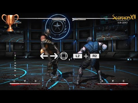 (New) Mortal kombat x | 10 hit combo with all characters | knockout trophy guide | ps4