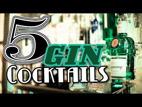 (New) 5 gin cocktails