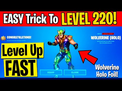 (HD) (new!) how to level up fast + xp gaining tricks (level 220!) in season 4 (fortnite xp glitch)