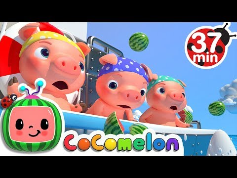 (New) Three little pigs (pirate version) + more nursery rhymes - cocomelon