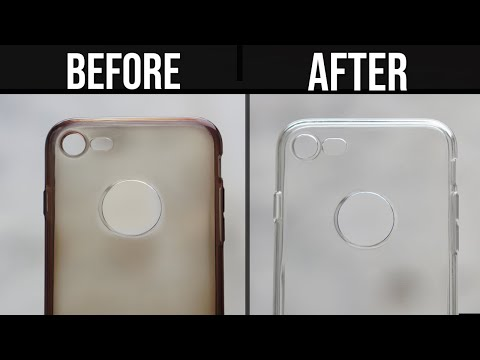 (New) How to clean yellowness of transparent mobile cover | clean silicon cover at home